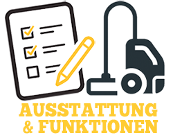 Staubsauger Austattung & Funktionen Illustration
